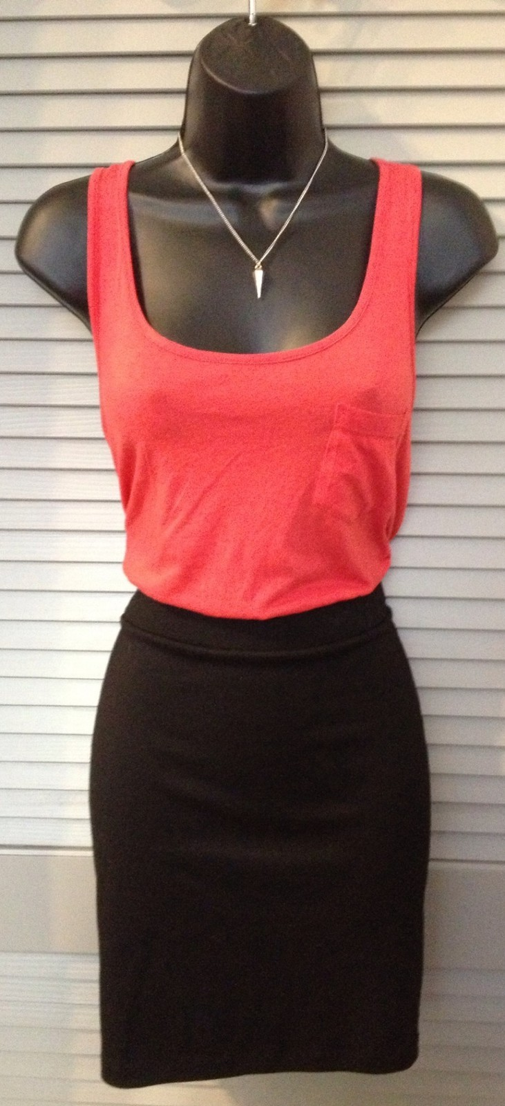 Women's Red and Black Tank Dress