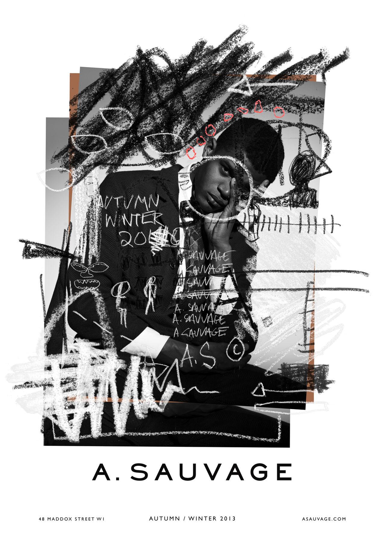 ventureandvirtue :       A. Sauvage   FW13 x Jean-Michel Basquiat