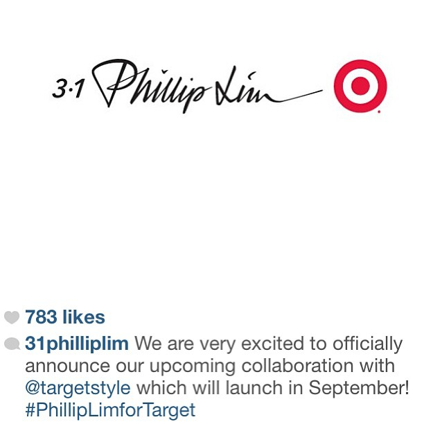 So we're not sure if you know … but Jesus just wept.   No really.  Phillip Lim and Target are in collaboration!  Don't believe us … just watch … below!          Get ready for another designer collaboration that's sure to cause in-store frenzies: Phillip Lim for Target .   That's right, the New York-based designer is set to release a collection for both men and women this September. As far as these things go, Lim's 100+ offerings seem to  up the ante for high-low shopping : He'll be shilling dresses and separates for $20 to $75, bags for under $60 and his trademark leather jackets for – wait for it – $250 to $300.   Sound a little pricey for a Target collection? Well, a leather jacket from Lim's 3.1 line could  set you back $1850  (if that's any solace). Plus, the mass retailer might just be able to recapture the excitement that surrounded its  Prabal Gurung  and  Missoni collabs with this one – Lim's New York Fashion Week shows always attract young, buzz-worthy folks like Leigh Lezark and Rashida Jones. ( source )