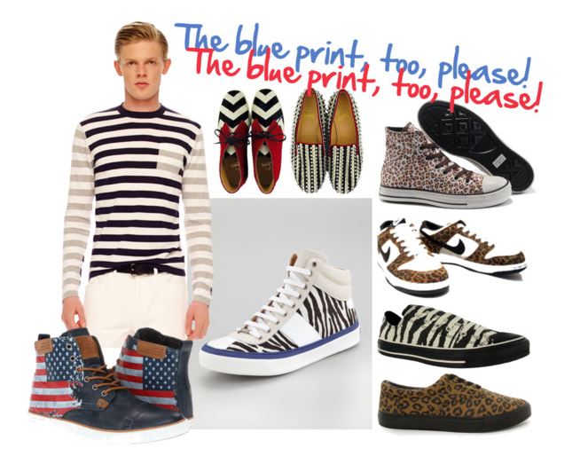 Our favorite 2013 spring trend (of course) is PRINTS ON PRINTS ON PRINTS!       We thought we'd spread a little love around with a few cool menswear print trends that we're digging!   Click   HERE   to shop the looks in the pic above!   See the links below for other fun print trends!     Mark McNairy Forrest McBape Chukkas     Reef Corsac Striped Fox  –> ONLY $45.00    Acapulco Gold Beanies    We love all things   SCOUT & CATALOGUE  !   And go ahead and just swoon over the   ANDREA POMPILIO   collection, please!