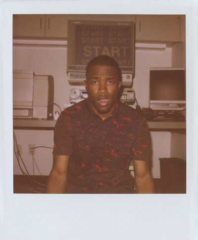 Frank Ocean for Opening Ceremony       Frank Ocean for Band of Outsiders Spring/Summer 2013   by ALICE NEWELL-HANSON    It almost goes without saying that we're fans of Frank Ocean. Who isn't? Scott Sternberg is a fan too. Following in the footsteps of everyone from RUPERT GRINT (let's be real: Ron Weasley)to ED RUSCHA , Frank put on the latest Band of Outsiders collection and goofed around in front of Scott's Polaroid camera. Here, he's wearing a shirt printed like a fantasy map of American national parks from California to Colorado and the Grand Canyon—a perfect example of spring's outdoor theme. As usual, the collection also arrived at OC with a wardrobe's worth of perfect button-downs. This season they come in a micro striped Oxford, Tattersall (a woven fine-lined check), and Batiste cotton (the softest weave of shirting fabric). Meanwhile, Not a Polo , Band's laid-back little brother, supplies tanks, sweats, and rugby shirts in Dennis the Menace stripes.  Shop all Band of Outsiders  HERE . Shop all Band of Outsiders Not a Polo  HERE .       READ MORE HERE.