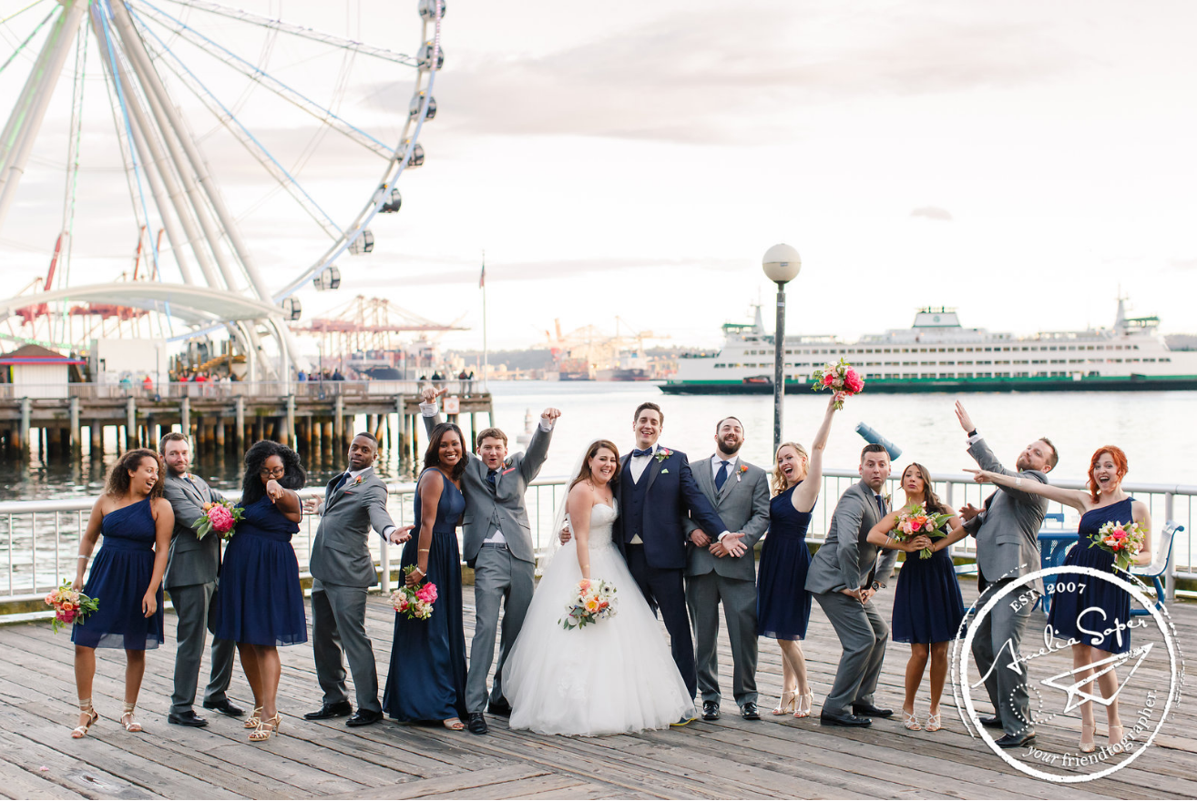 great wheel seattle, bridal party