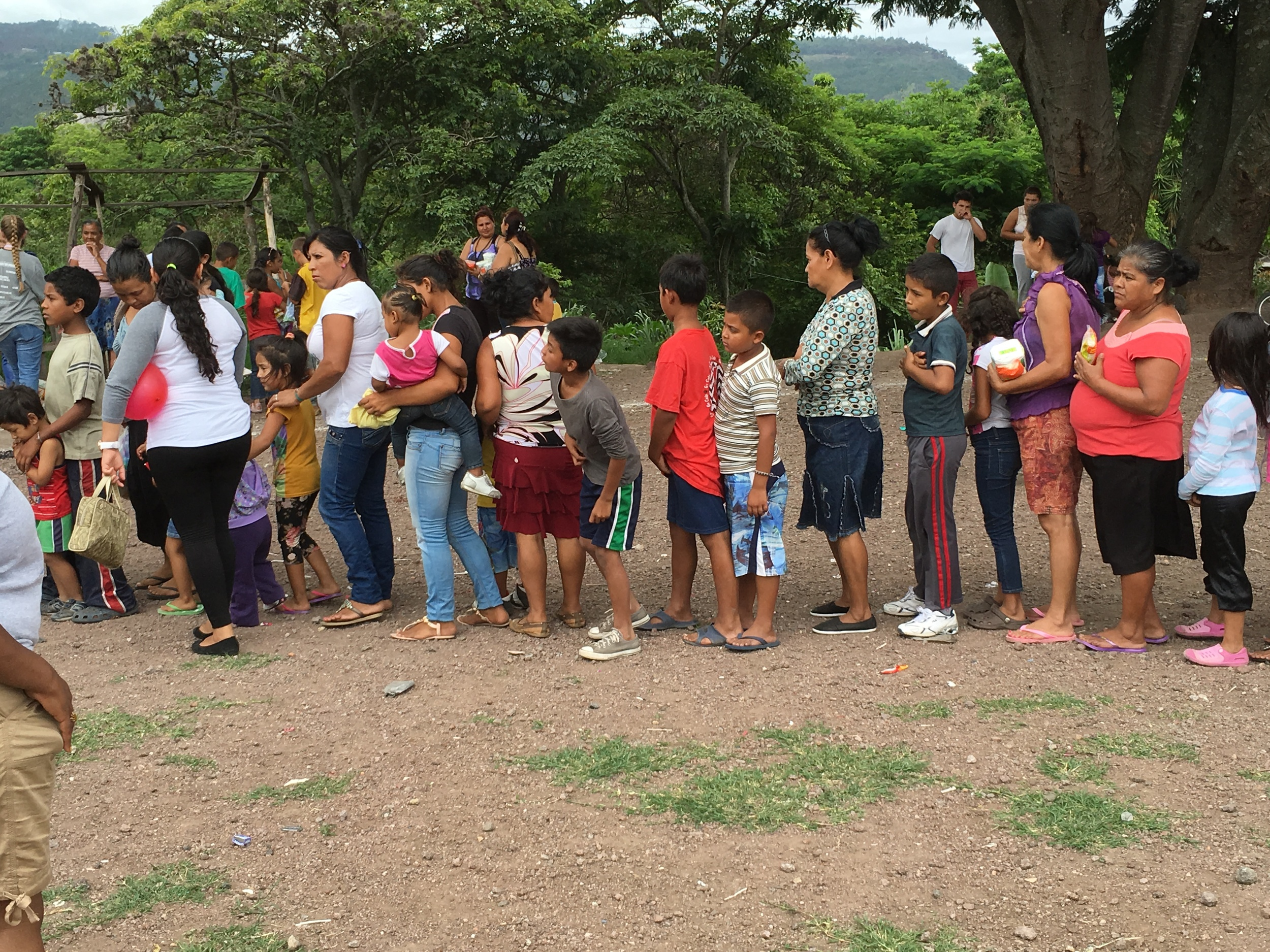 The line for hygiene bags
