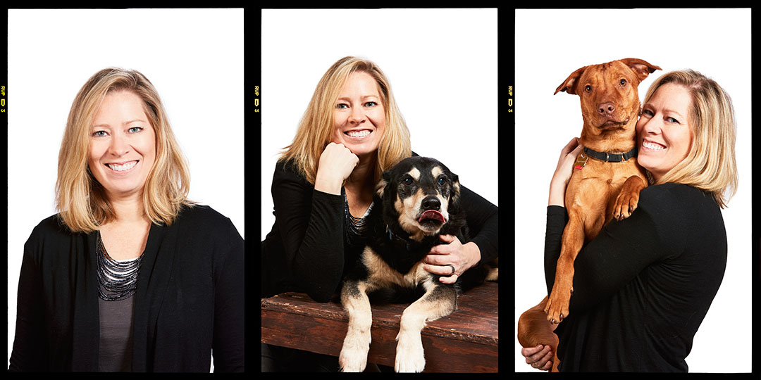 The beautiful Lisa Barber and Boo and Finnegan