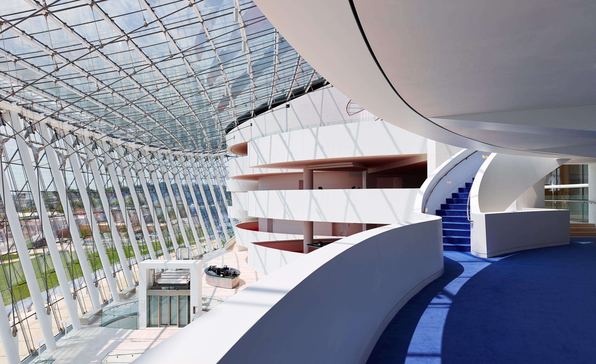 Interior of the Kauffman Performing Arts Center in Kansas City, MO