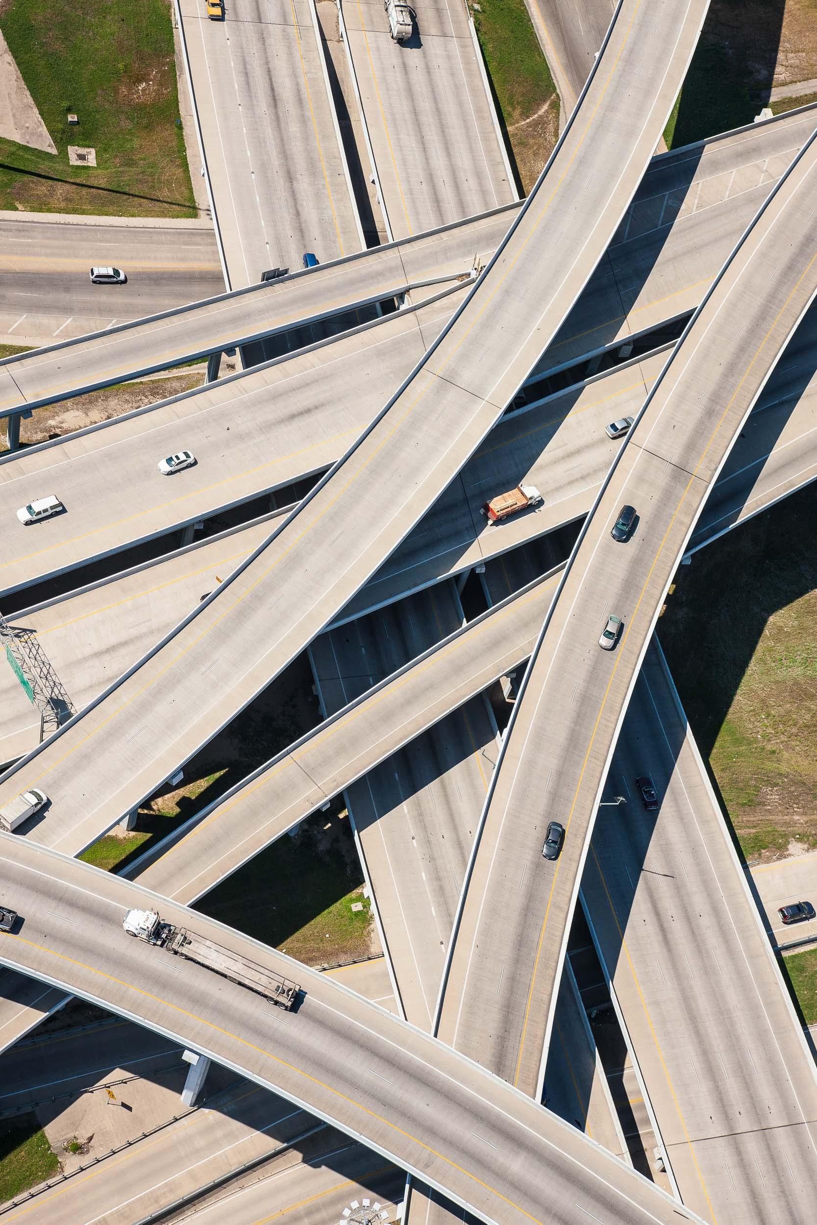 Aerial interchange in Fort Worth, TX