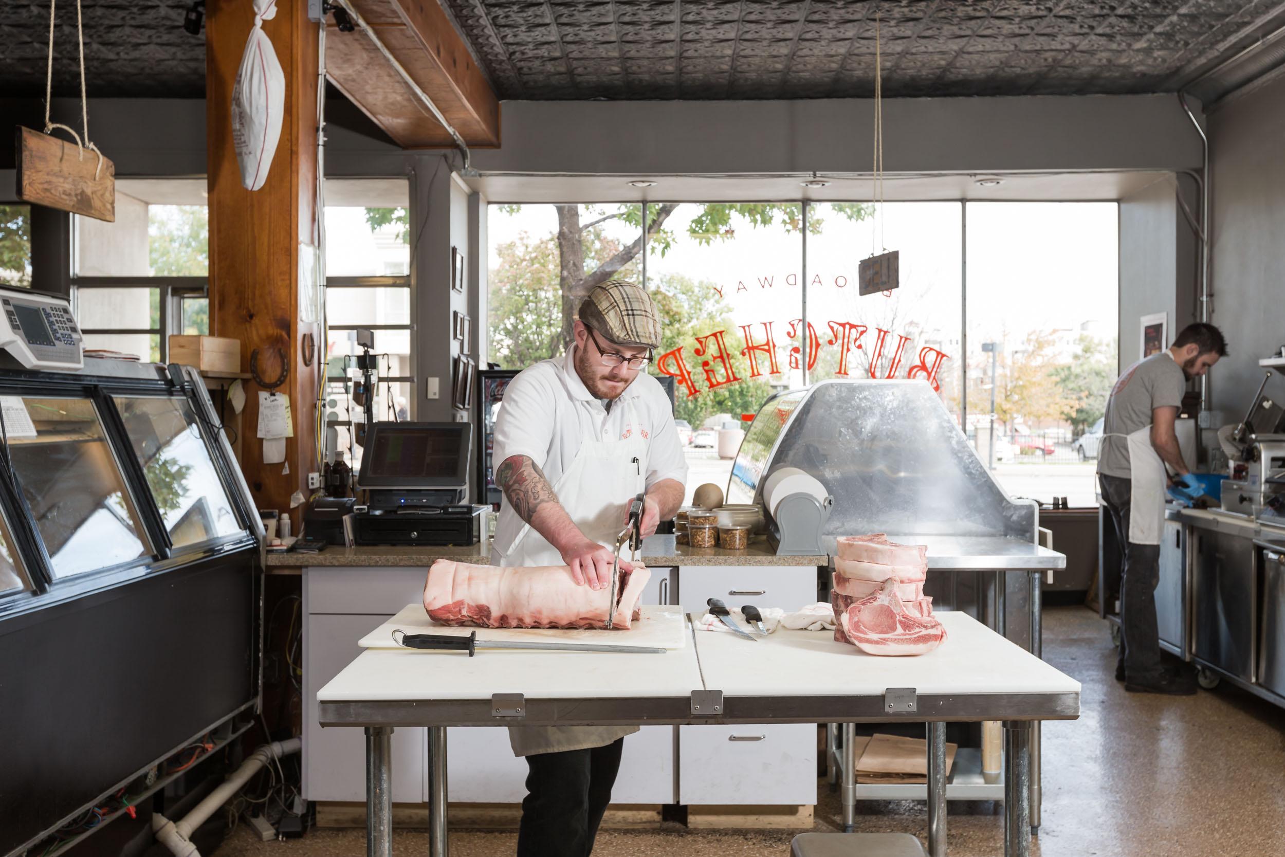 Stuart Aldridge at work for Feast Magazine at the Broadway Butcher