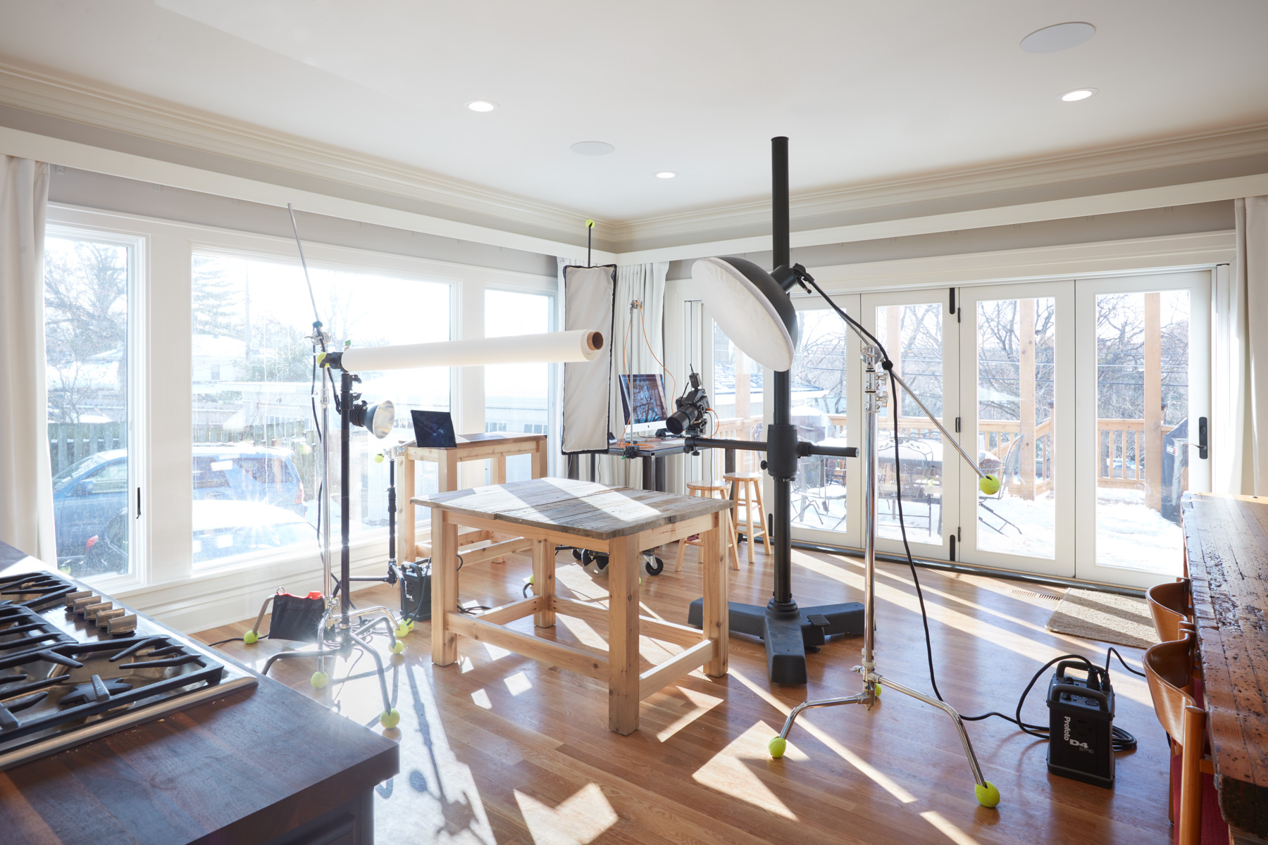 Our fancy new natural light studio