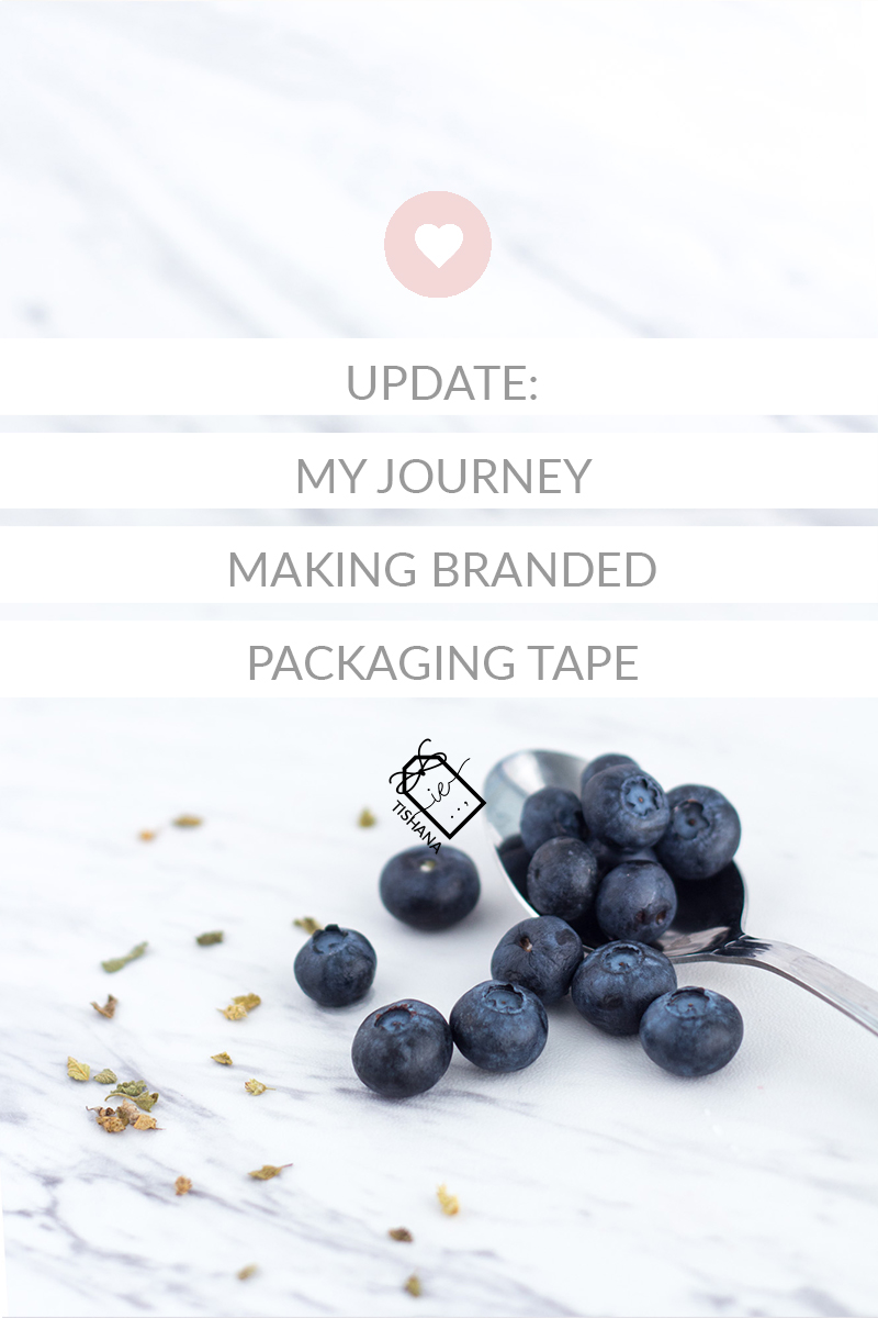 My Journey Making Branded Packaging Tape - How I picked my design and the process behind it.
