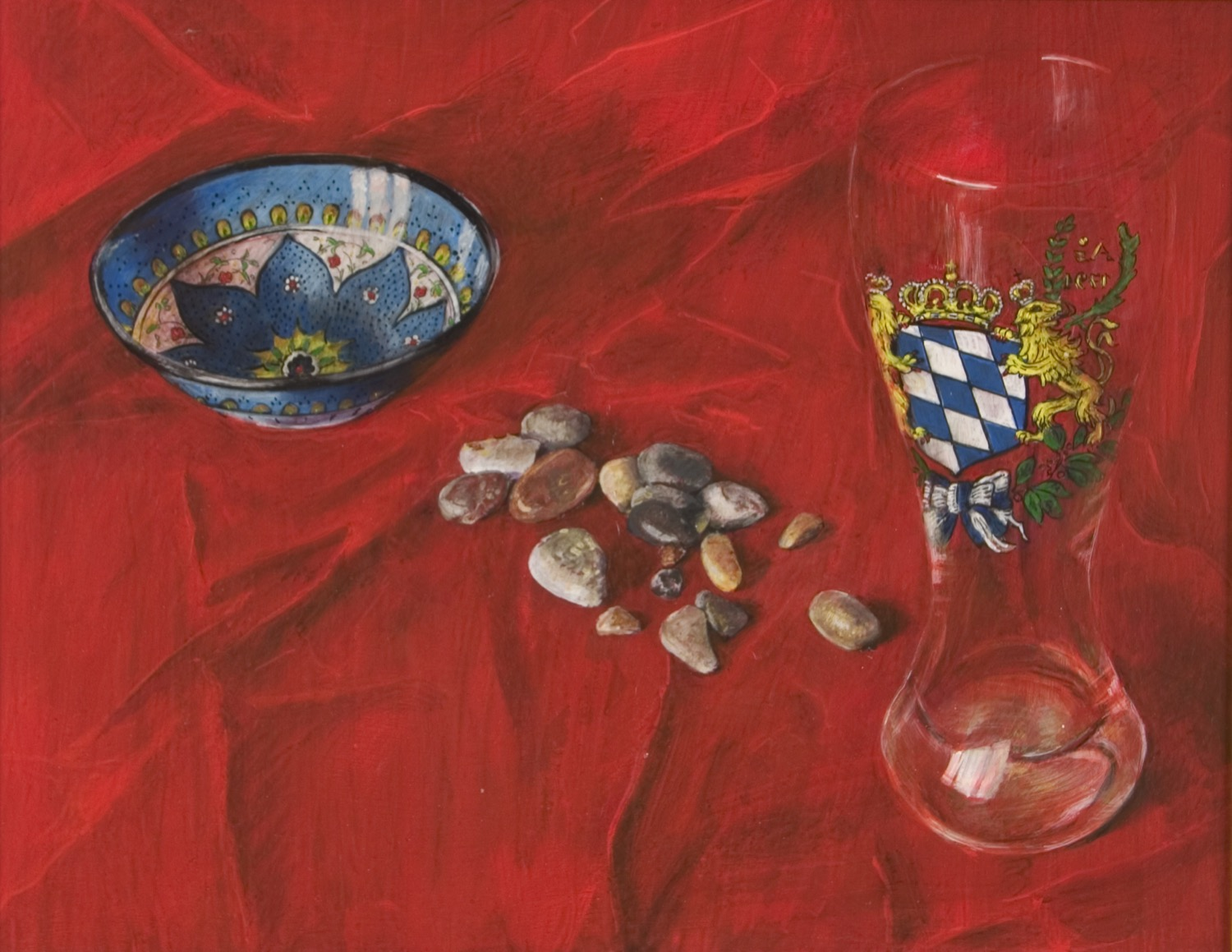 Pebbles, Glass and Bowl