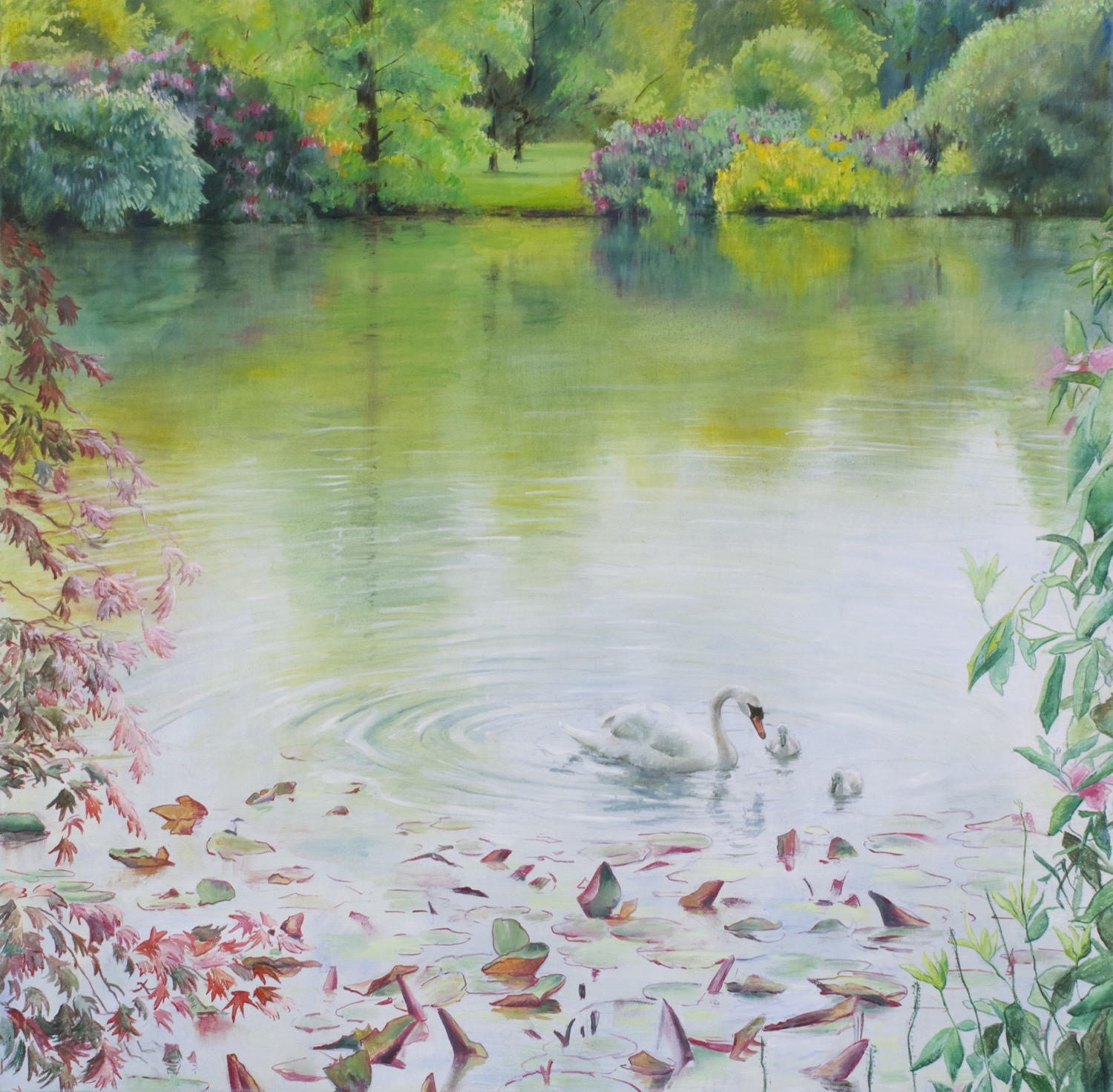 Sheffield Park, Spring: The Swimming Lesson