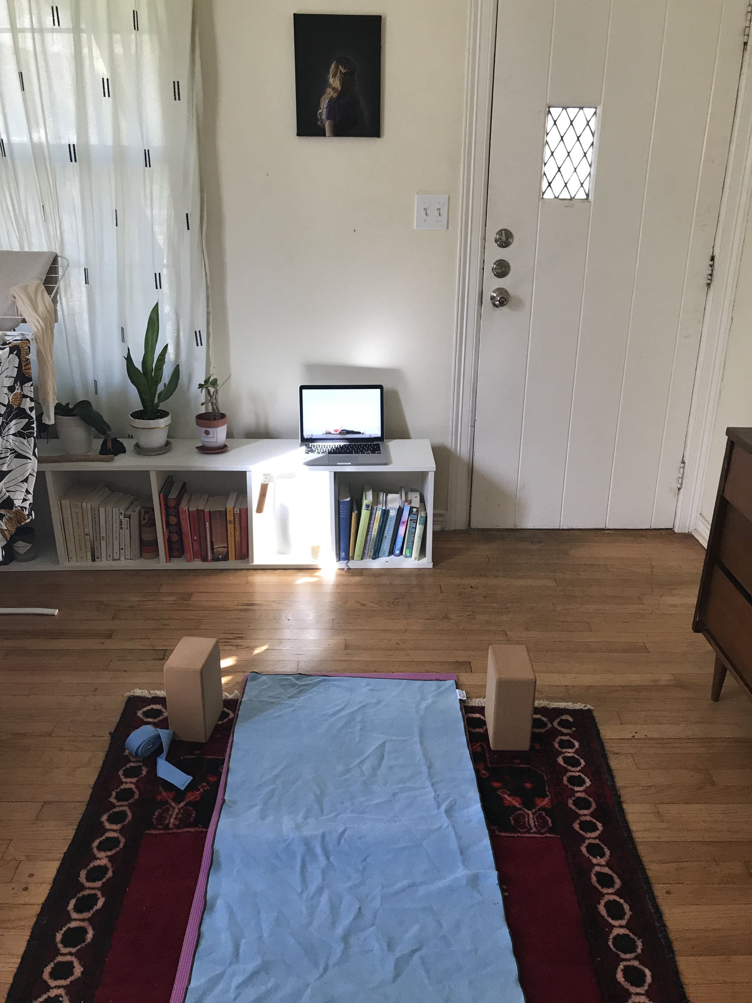 My home yoga setup!