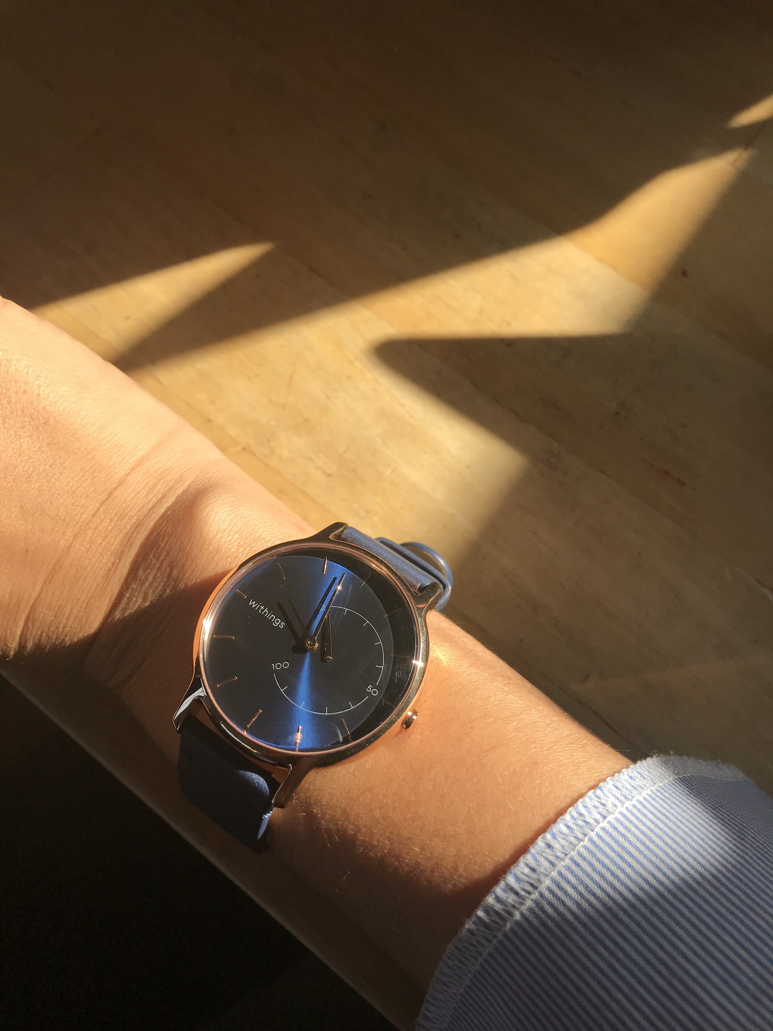 My Withings Smart watch tracks my sleep, my steps, and my workouts!