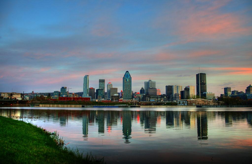 Skyline de Montréal durante el amanecer. Foto: François Proulx - Flirk