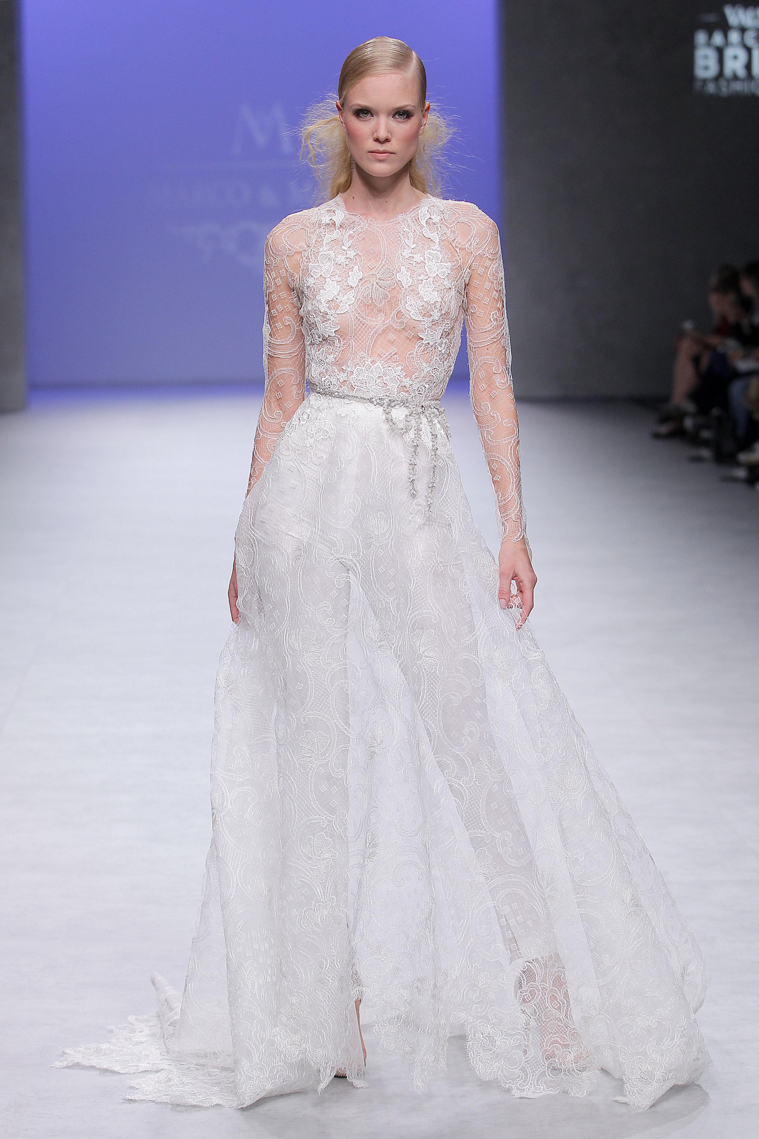Diseñador: Marco & María - Pasarela:   Valmont Barcelona Bridal Fashion Week