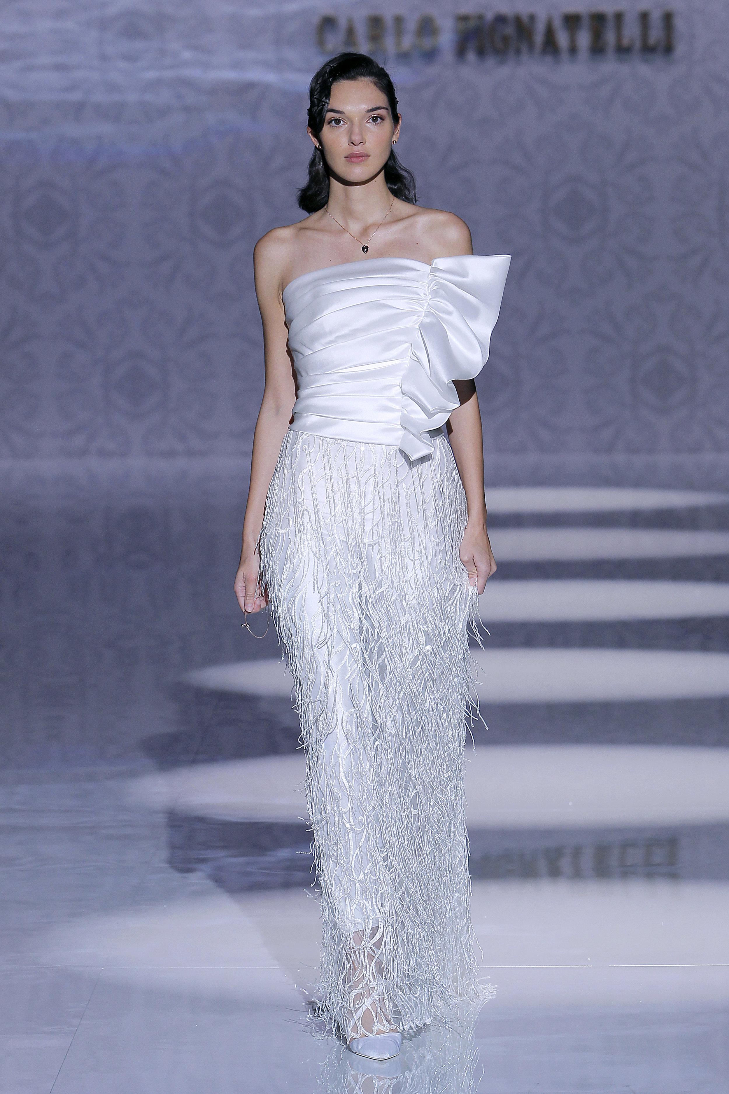 Diseñador: Carlo Pignatelli - Pasarela:   Valmont Barcelona Bridal Fashion Week