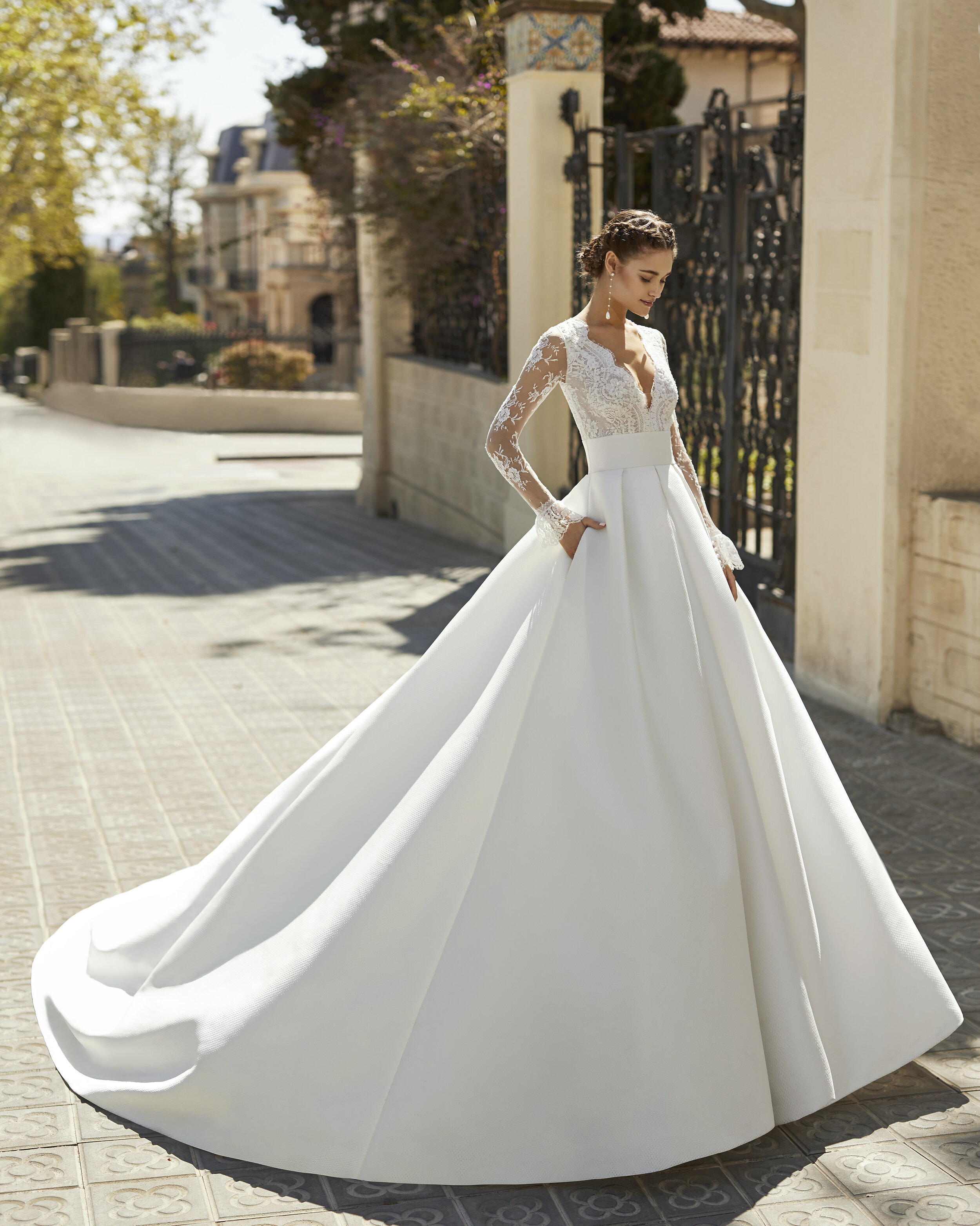Vestido Andrea - Línea: Aire Atelier / Foto: cortesía Aire Barcelona