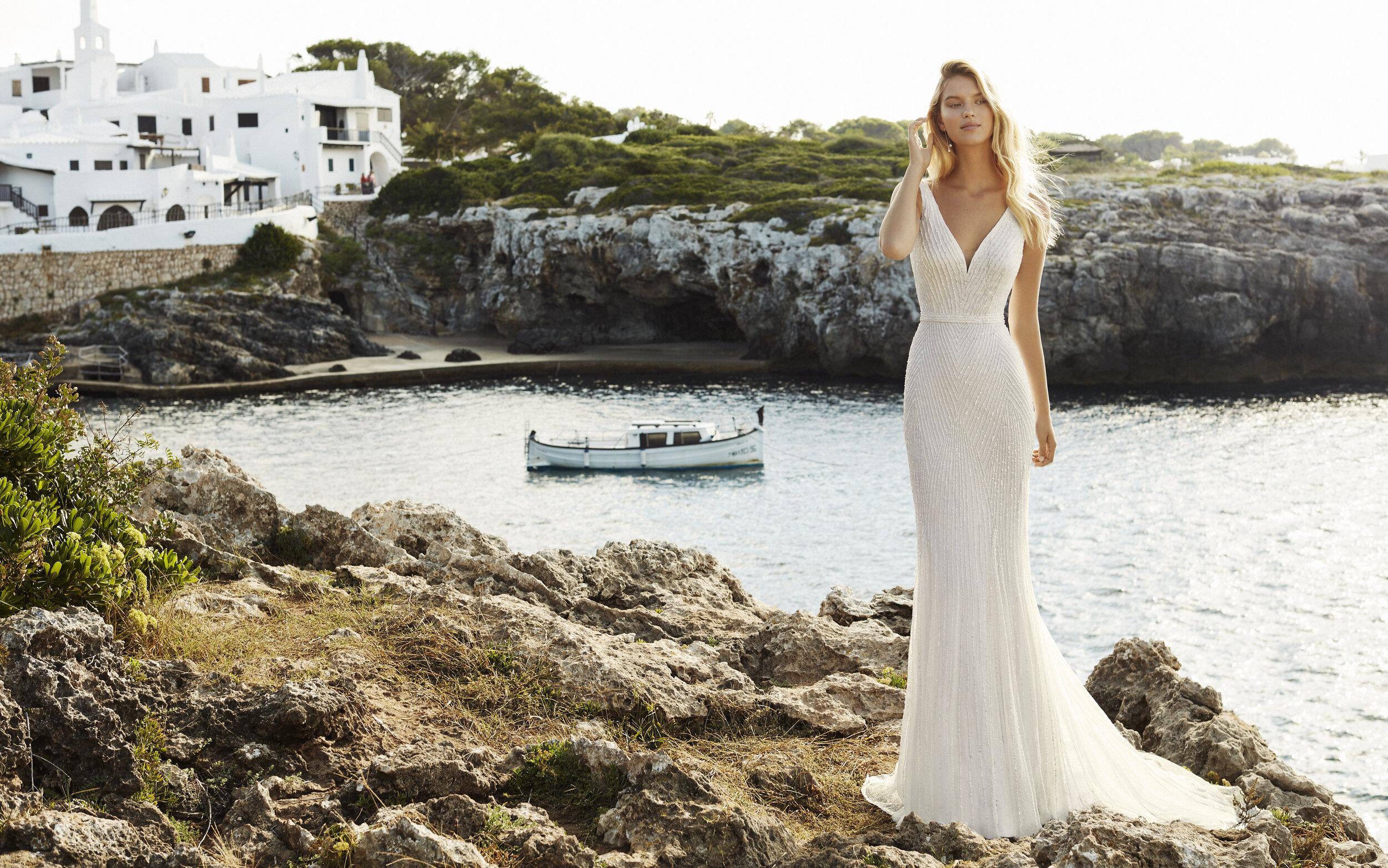 Vestido Quiro - Línea: Aire Beach Wedding / Foto: cortesía Aire Barcelona