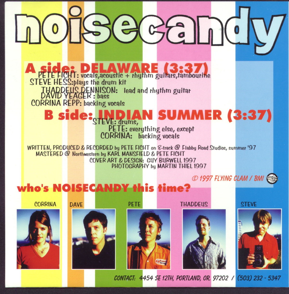 Noisecandy - Delaware single, 1997