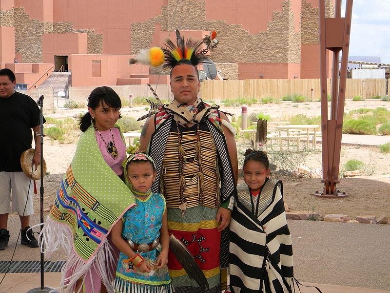 Hualapai Family in traditional REgalia