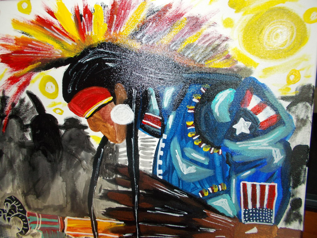 red earth pow wow warrior dancer by nativeamericanarts