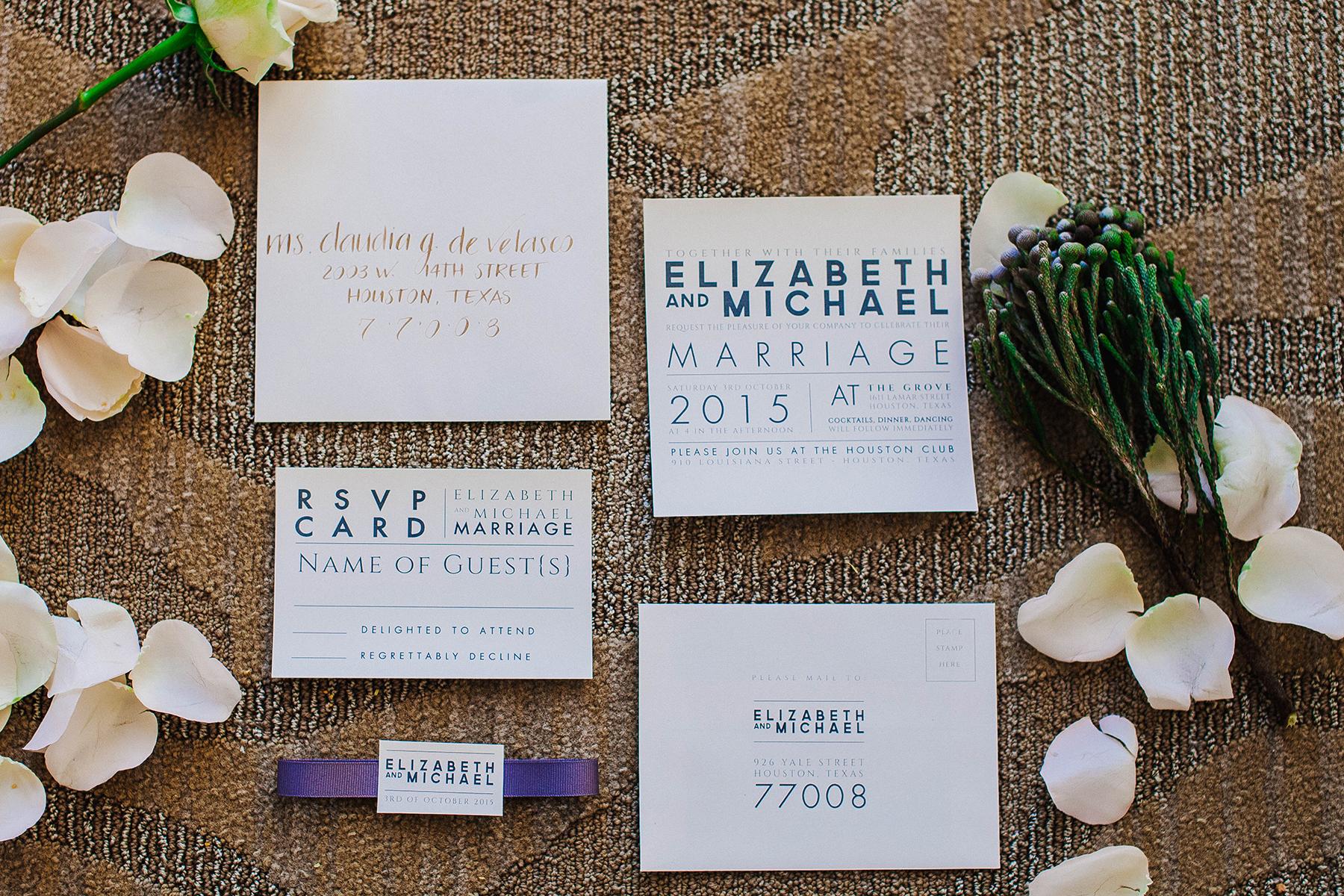 daytoremember.net | LeZu Photography | Wedding Stationery | A Day To Remember Houston Wedding Planning and Design
