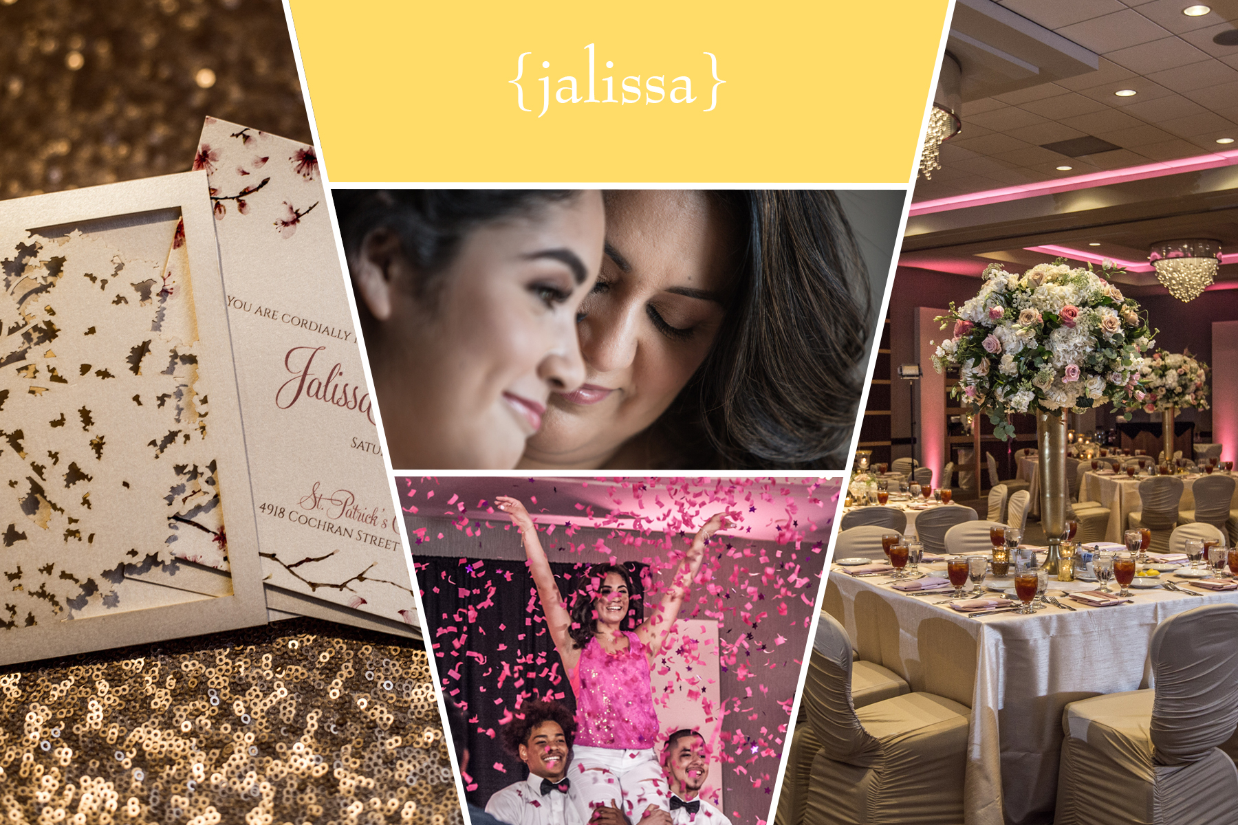 """""""I absolutely loved the work that was put together for my daughter's Quince! I had a vision and it was executed perfectly! The décor was gorgeous and everybody was very impressed on how elegant and classy it looked! Claudia was great to work with and she knew exactly what I was looking for. I would definitely recommend her to anyone looking to have an amazing and luxurious event!""""  —  Karina, mother of Quincea ñ era, The Sheraton Brookhollow Hotel"""