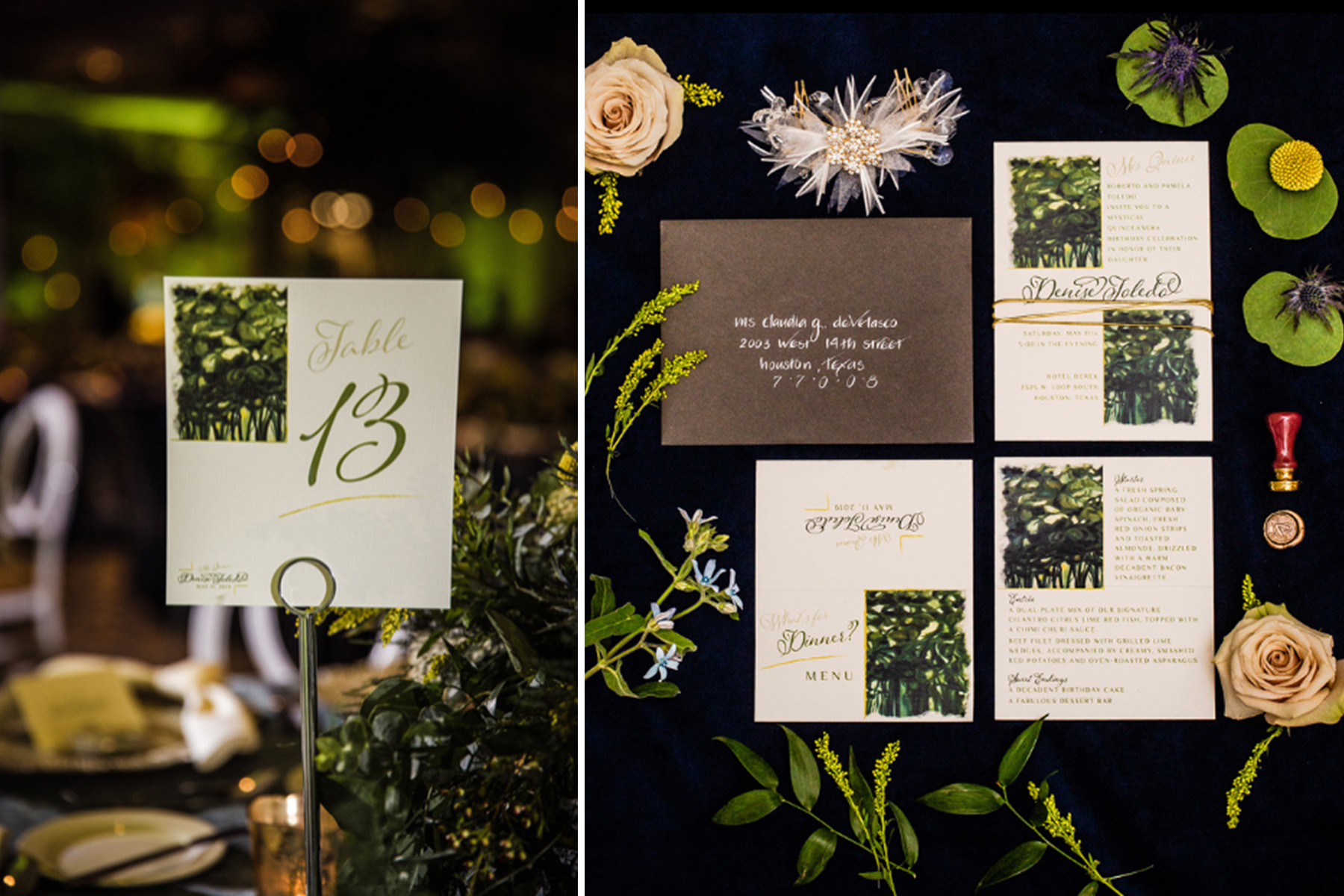 daytoremember.net | Blanca Duran Photography | Wedding Stationery | A Day To Remember Houston Wedding Planning and Design
