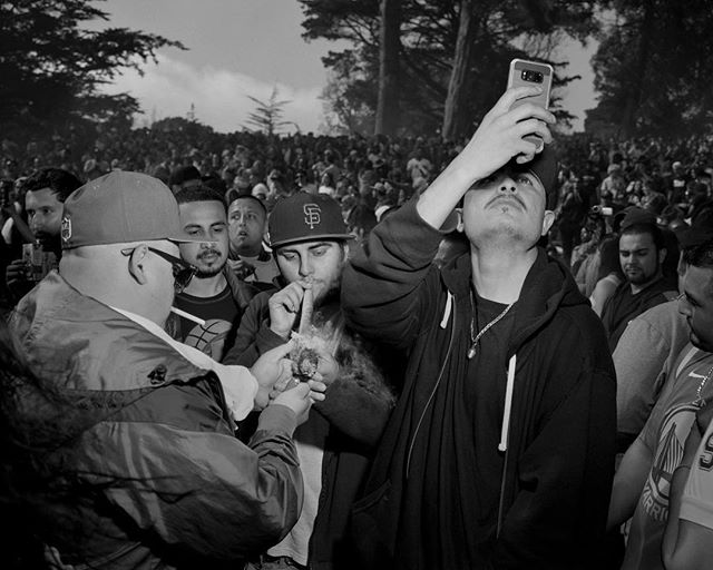Today is the day when many, many people gather in golden gate park and smoke obscenely large joints. Collaborative photo with @erinbrethauer