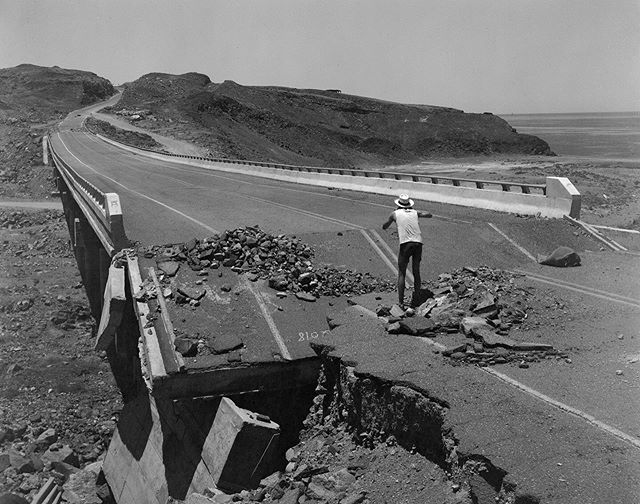 Damage from hurricanes past on Highway 5, Baja California