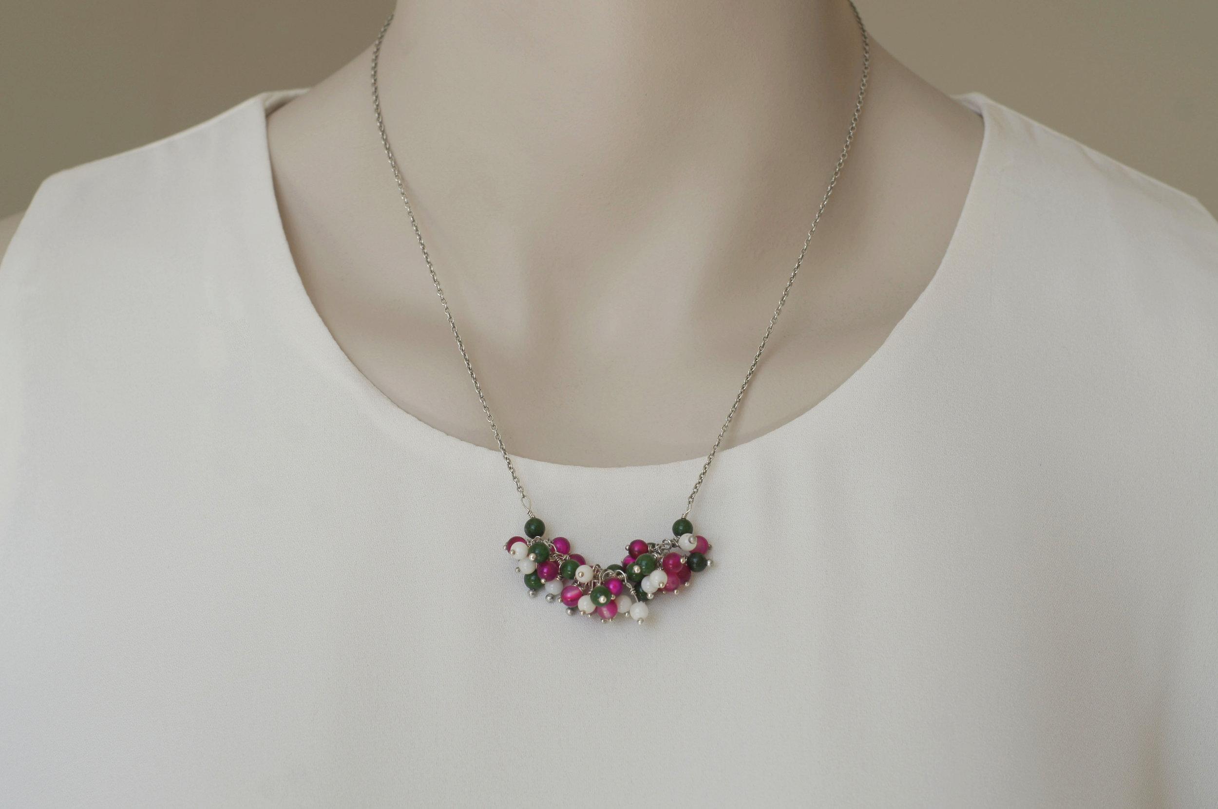 Petunia Flower Necklace