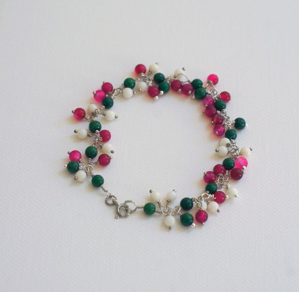 Petunia Flower Bracelet