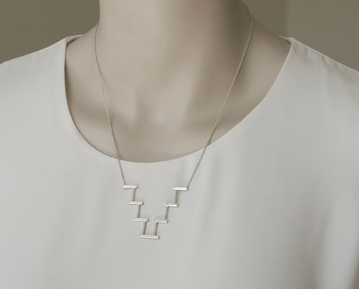 Step Gable Necklace