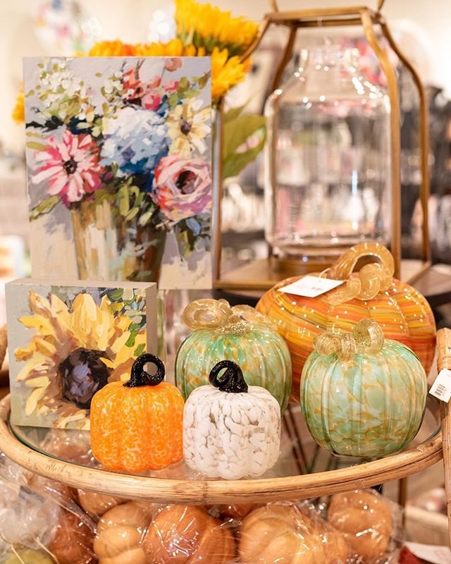 It's finally Fall by the thermometer and if you are like me - it is now time to bring the pumpkins out!  Open 10-6 today - let us help you freshen up your Fall decor.