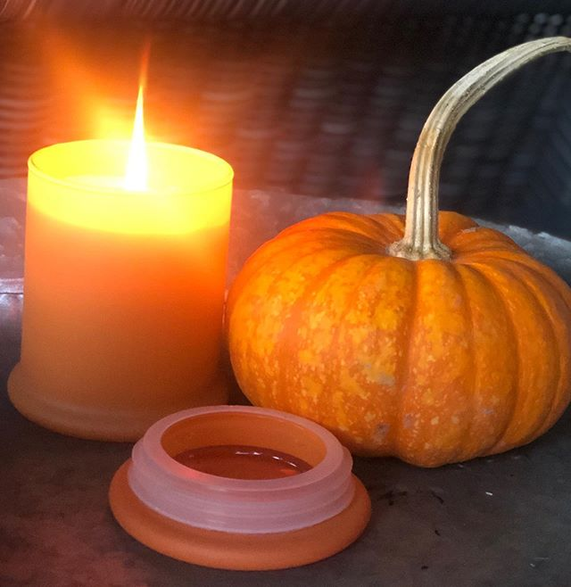 I have a lot of favorite fall candles but this one came home with me the day it arrived!  Pumpkin Macchiato  for the win and these wonderful cool porch nights!  Open 10-6 today - come grab one for yourself!!