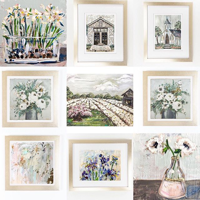 New local artist!  We welcome Memphis-based artist Erika Roberts, a Middle Tennessee native,  to Hot Pink.  Stop in a see her beautiful prints, calendars, tea towels and beautiful originals!!