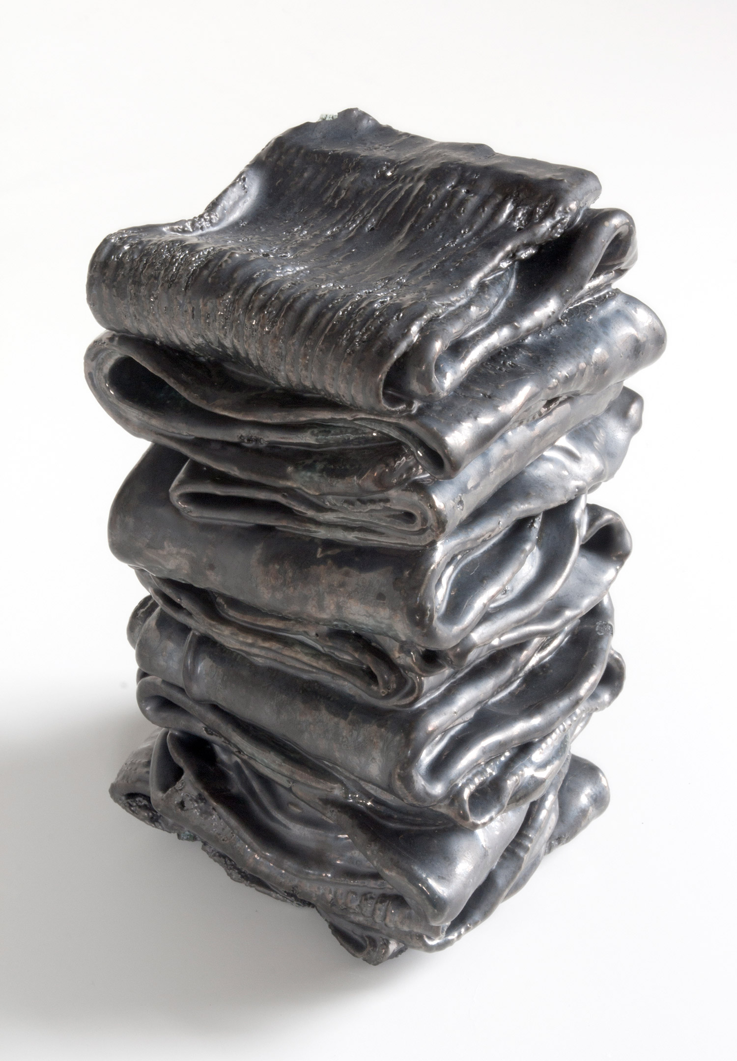 Tidy 2   2015 glazed porcelain 4 x 4 x 6.5 inches