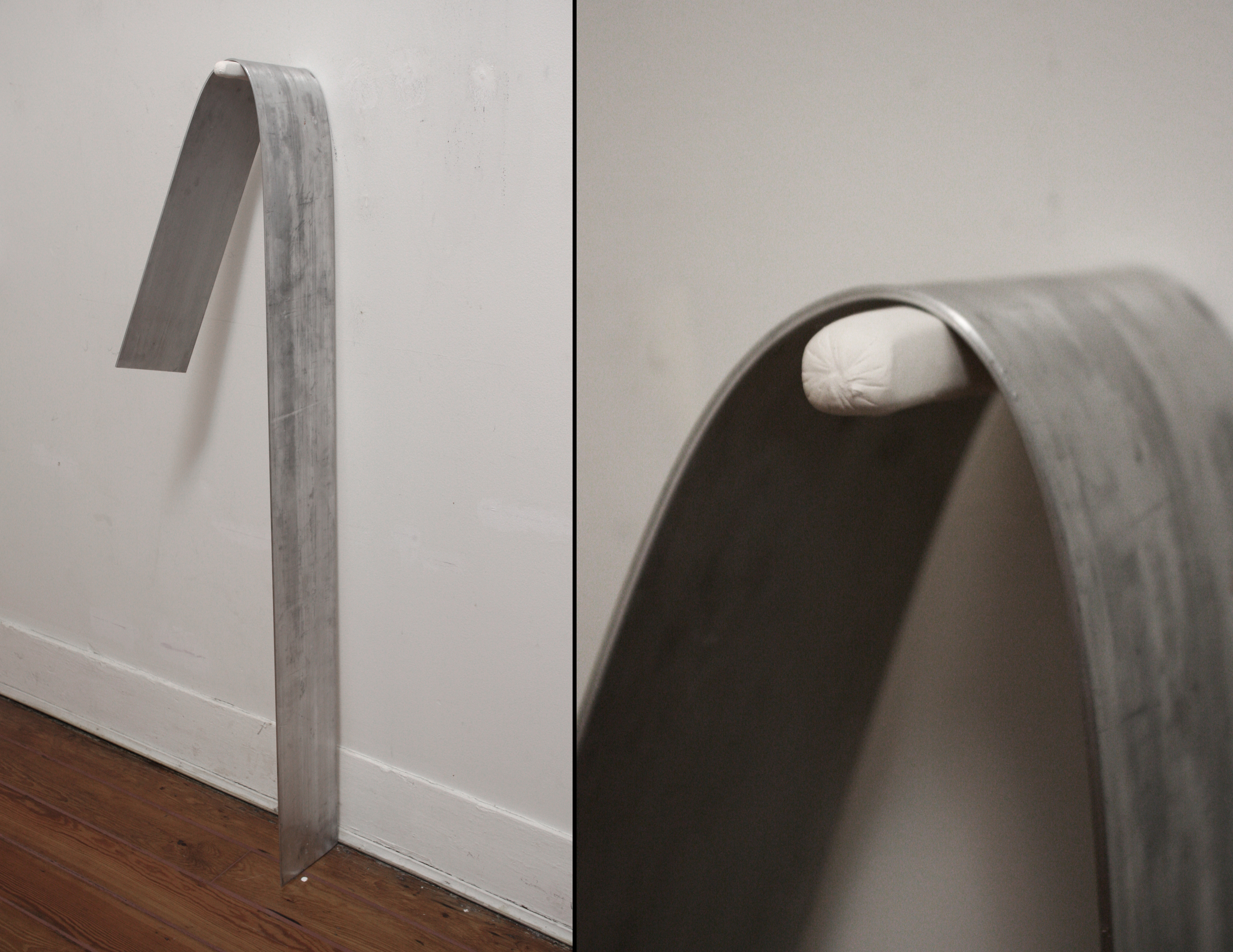 Straight up, Bend   2011 Plaster, aluminum 20 x 48 x 12 inches