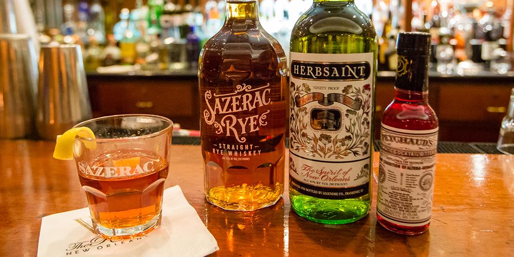 Sazerac Rye Whiskey and Sazerac cocktails