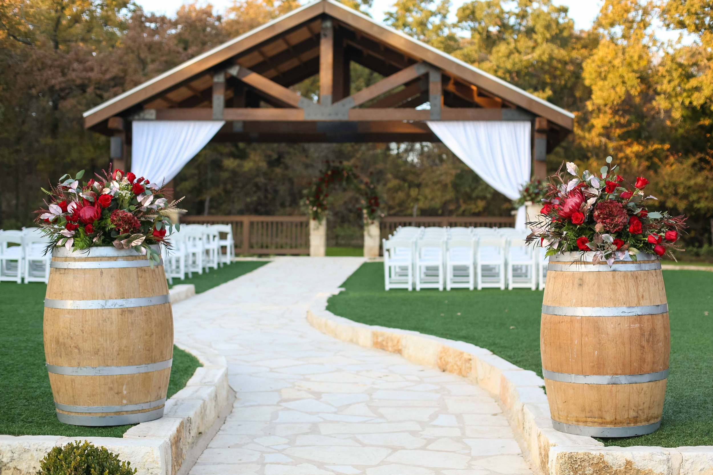 Romantic Wedding at The Springs in Aubrey