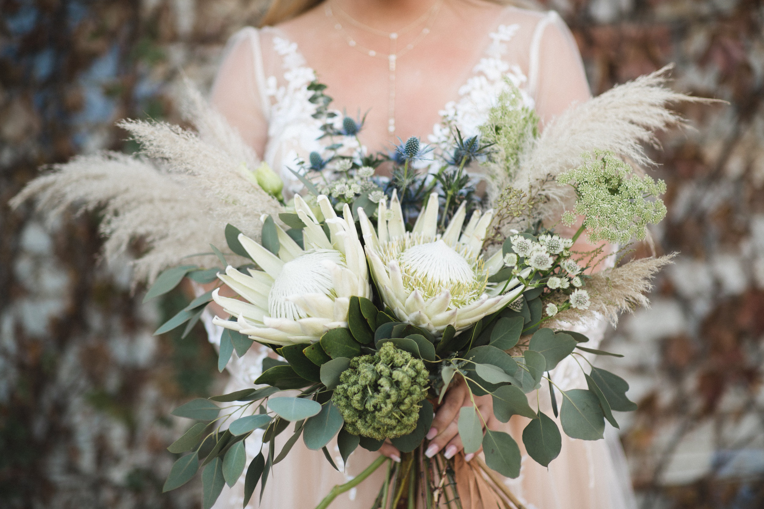 Nontraditional Floral Elements at Brik Venue in Fort Worth TX Wedding planner and designer