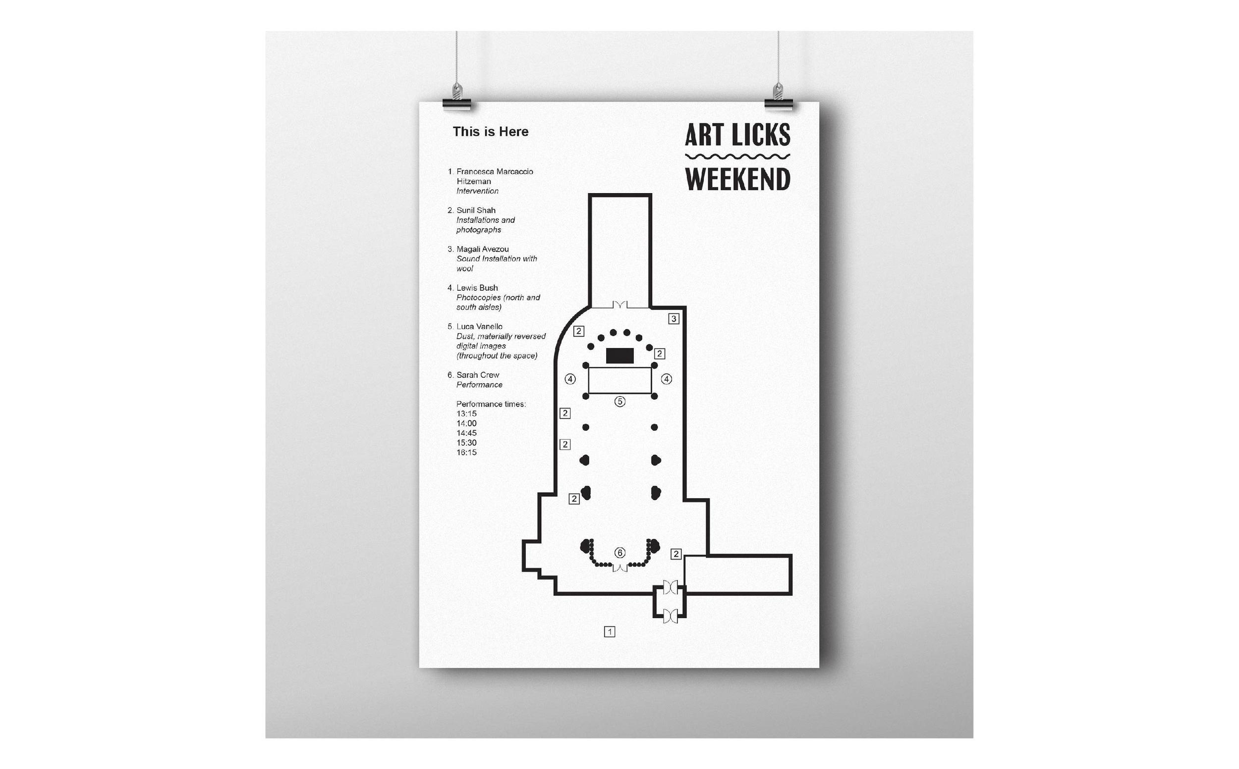Art Licks map poster