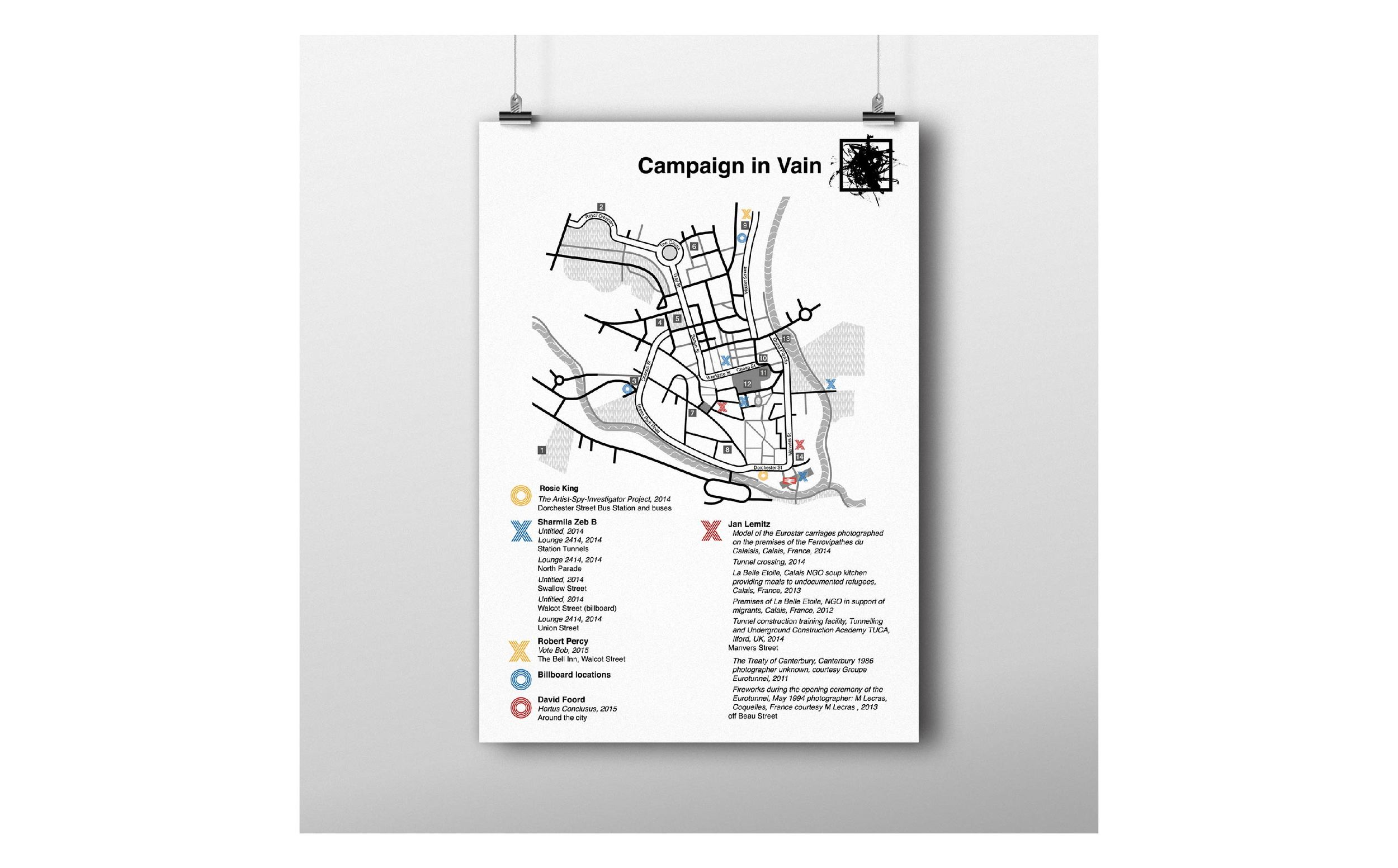 Campaign in Vain map poster