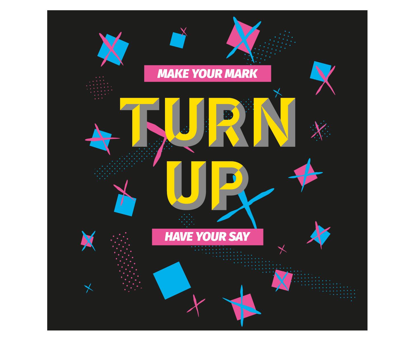 Turn Up social media square