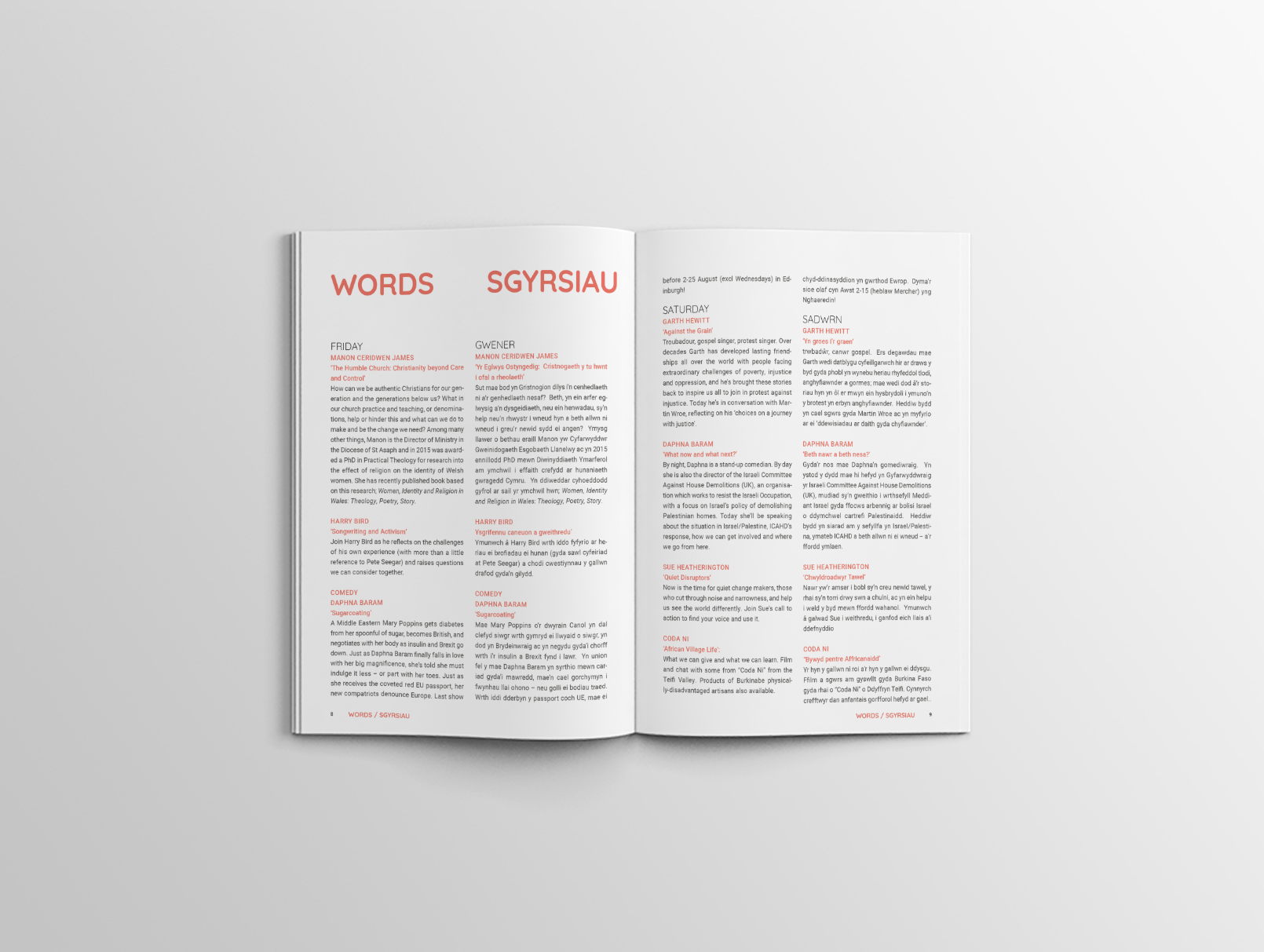 Coda programme words pages