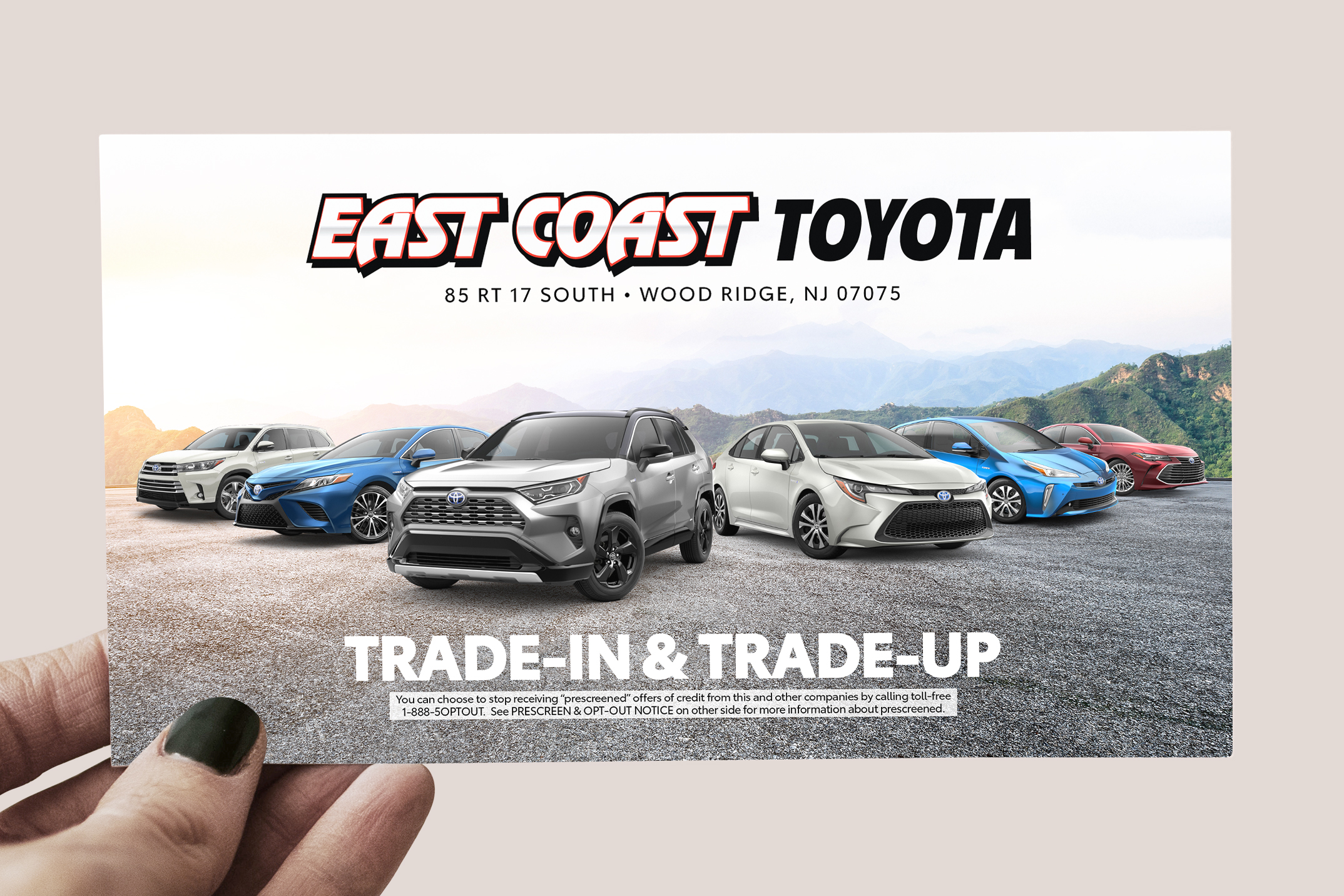 This is a piece of direct mail I designed for a North Jersey Toyota Dealership.