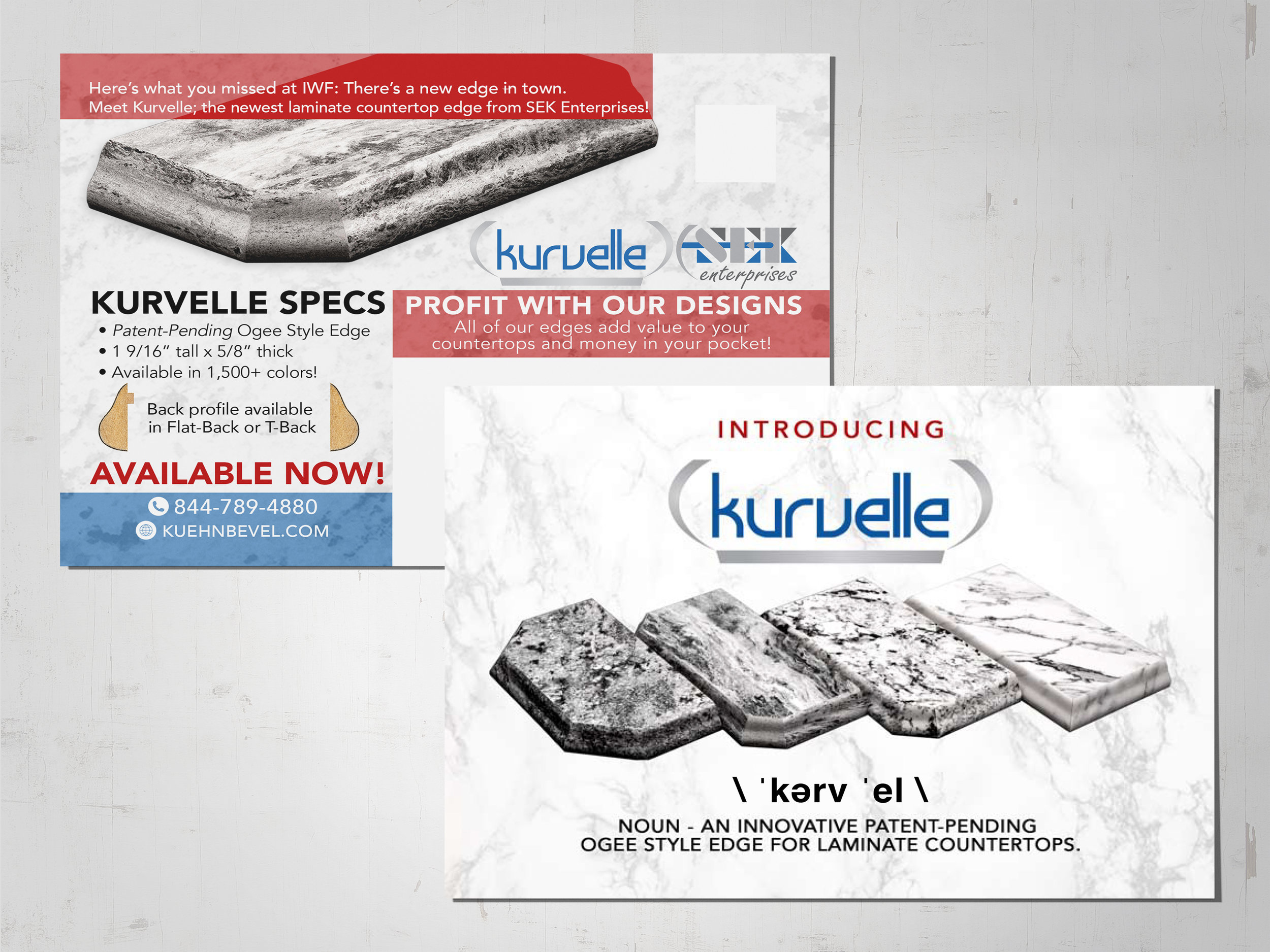 A direct mail piece I designed for a laminate countertop edge manufacturer in Northern New Jersey.