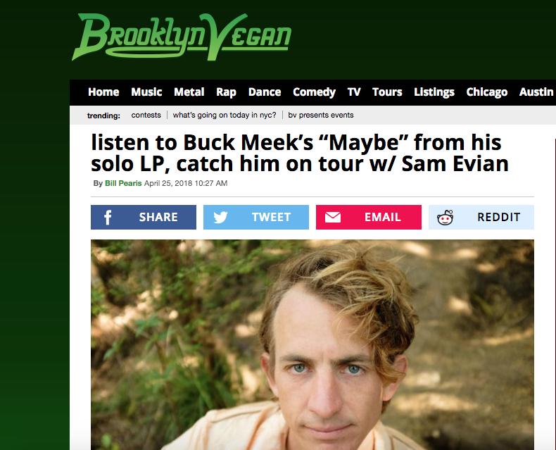 Brooklyn Vegan premieres the third Buck Meek single