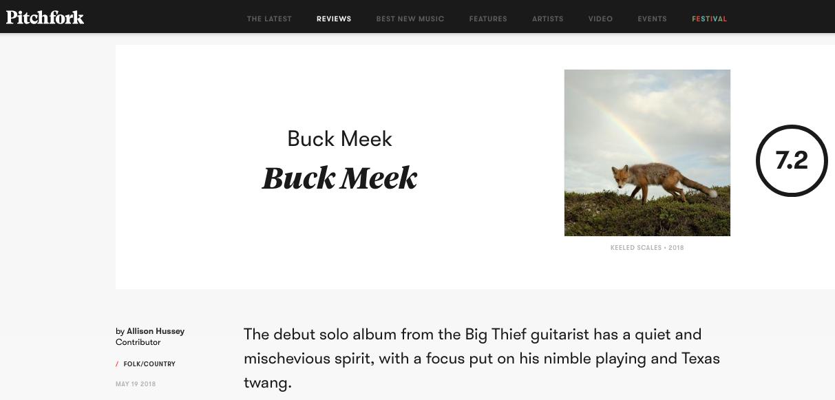 Pitchfork reviews Buck Meek - Pitchfork