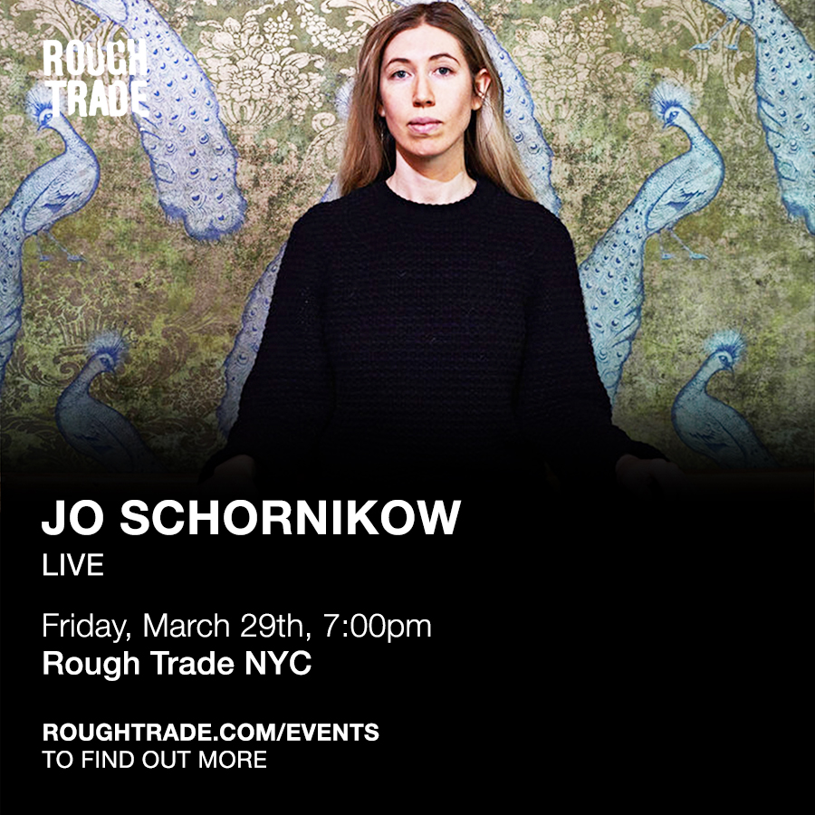 Jo Schornikow plays Rough Trade NYC on March 29th at 7pm - New York folks— be sure to add this to your calendars. Jo Schornikow plays Rough Trade NYC.